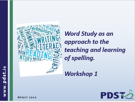 word study an approach to spelling pdst